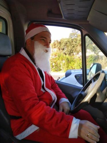 Pai Natal motorista